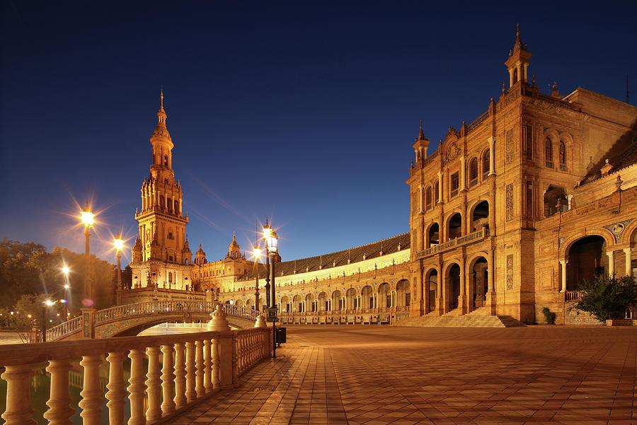Seville - Plaza De España Photograph by David Bank