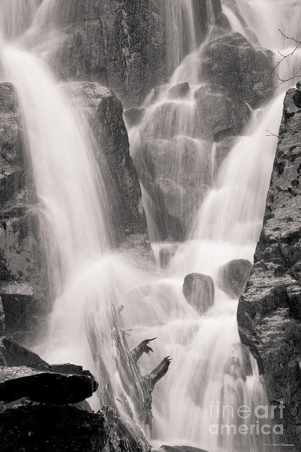 Alaska Photograph - Seward Falls by Chris Heitstuman
