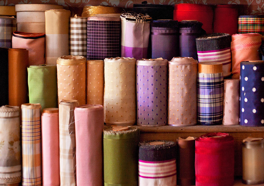 Sew Photograph - Sewing - Fabric  by Mike Savad