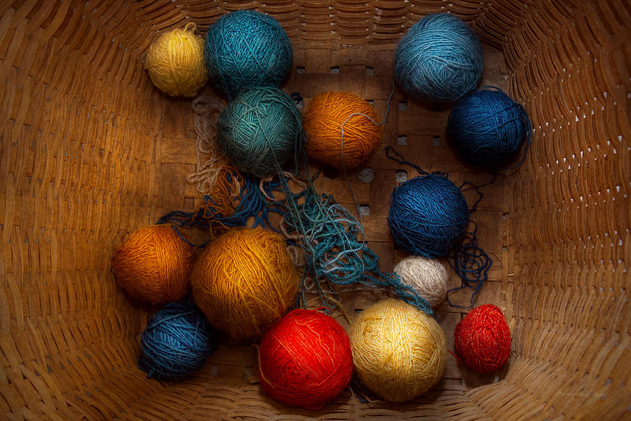 Yarn Photograph - Sewing - Knitting - Yarn For Cats by Mike Savad