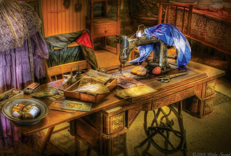 Savad Photograph - Sewing Machine  - Sewing Machine Iv by Mike Savad