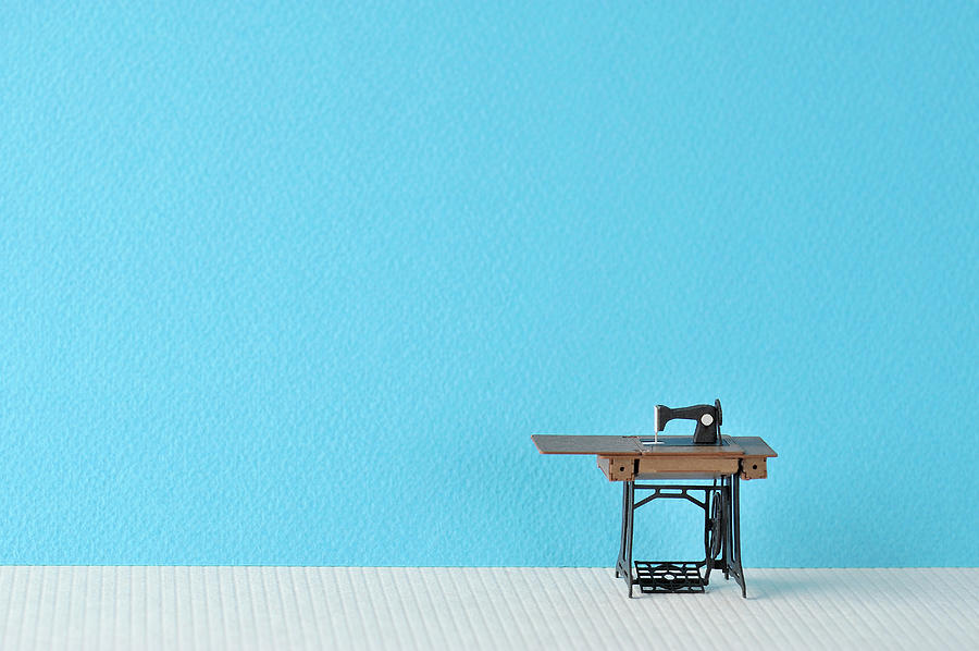 Sewing Machine Table Model Made Of Paper Photograph by Yagi Studio