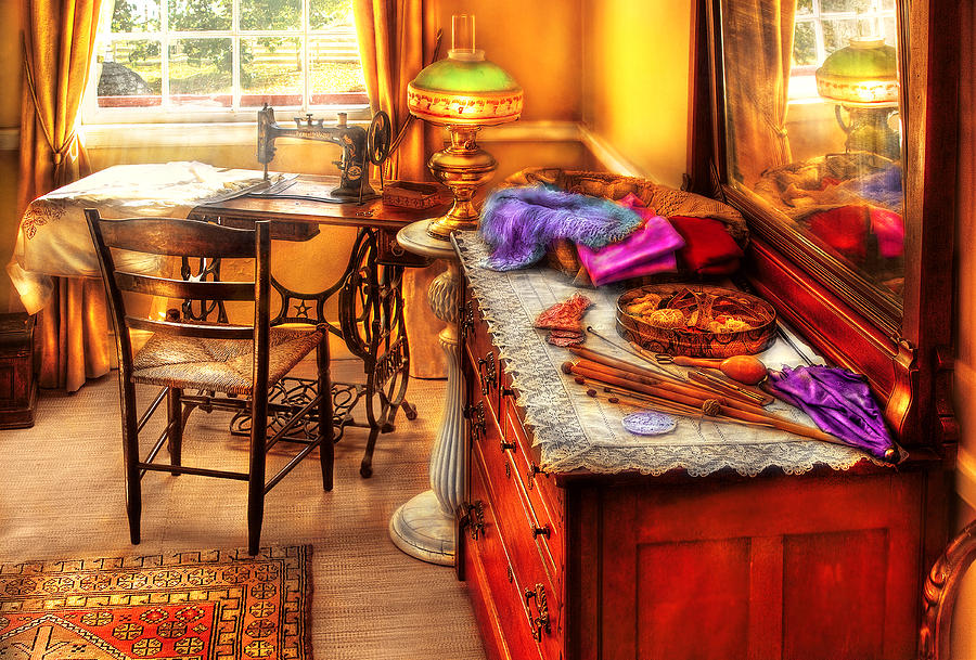 Savad Photograph - Sewing Machine  - The Sewing Room by Mike Savad