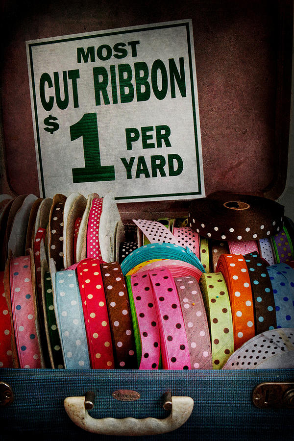 Hdr Photograph - Sewing - Ribbon By The Yard by Mike Savad