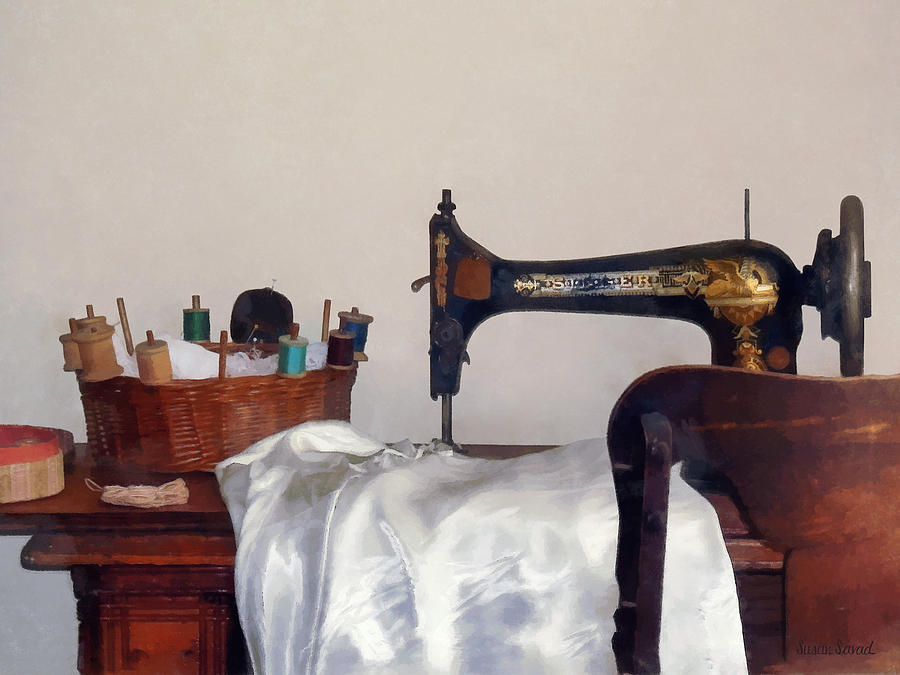 Sew Photograph - Sewing Room by Susan Savad