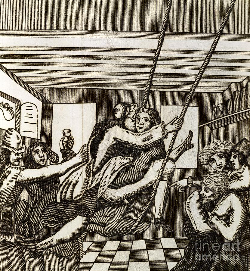 Célèbre Sex Swing, 17th Century Artwork Photograph by British Library HI34