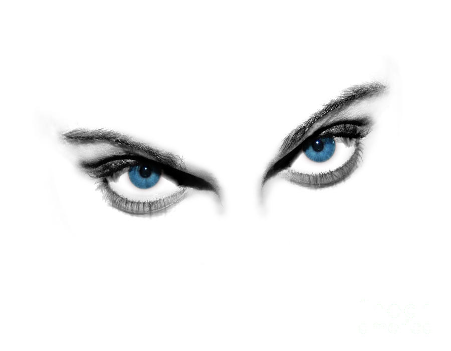 Vision Photograph - Sexy Blue Eyes  by Jt PhotoDesign