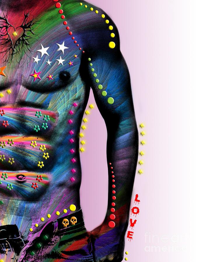 Male Nude Digital Art - Sexy Card  by Mark Ashkenazi