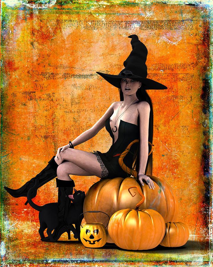 Halloween Digital Art - Sexy Halloween by Frederico Borges