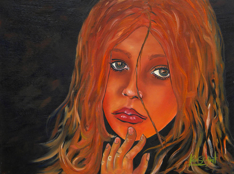 Sexy Painting - Sexy Lady by Ken Caffey