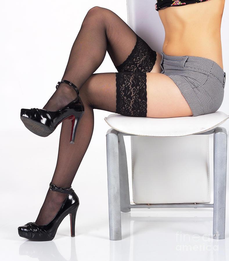 Pretty legs in stockings