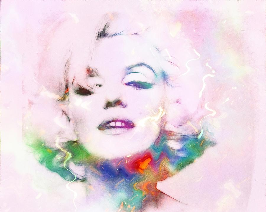 Sexy Marilyn Painting by Steve K