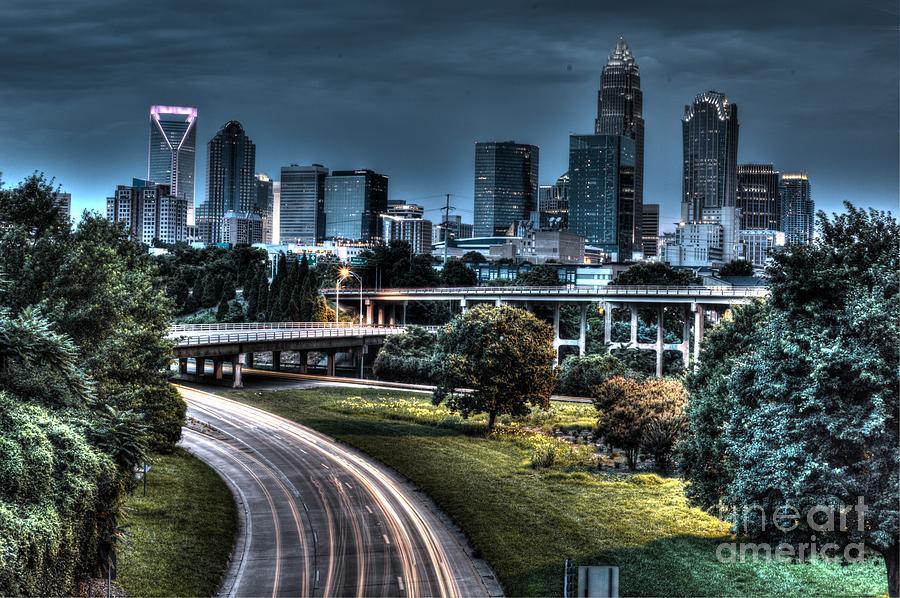 Charlotte North Carolina Sky Scrapers Bank Of America Photograph - Sexy Skyline Of Charlotte  by Robert Loe