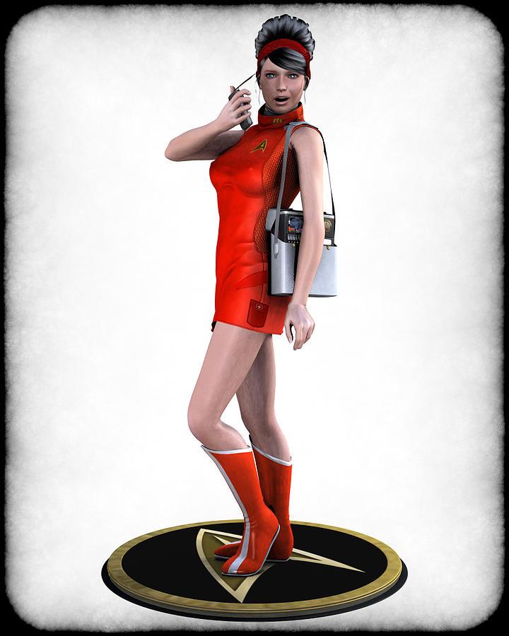 Star Trek Digital Art - Sexy Trekkey by Frederico Borges