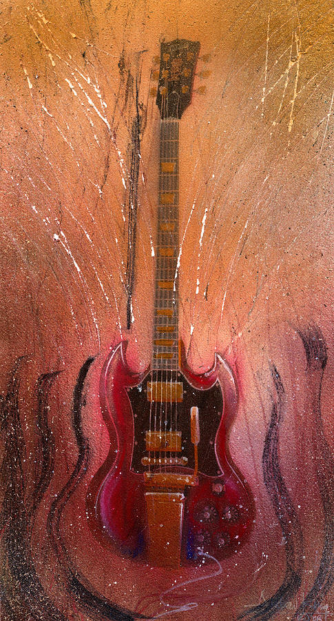 Guitar Painting - SG by Andrew King