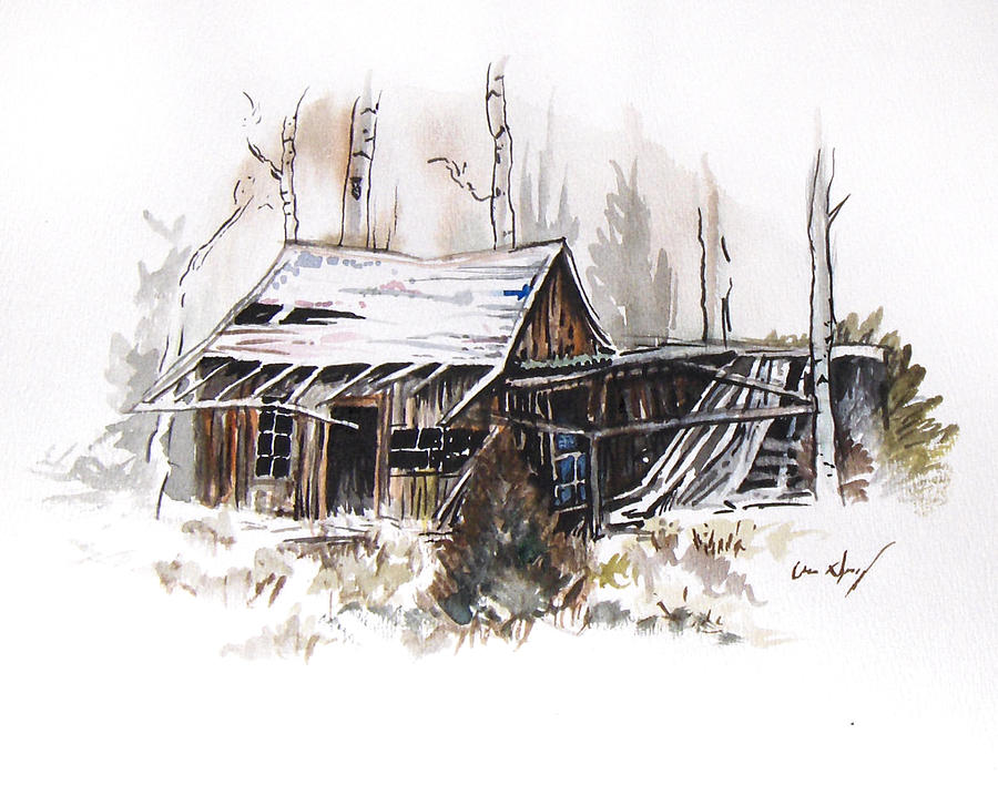 Shack Painting - Shack by Aaron Spong