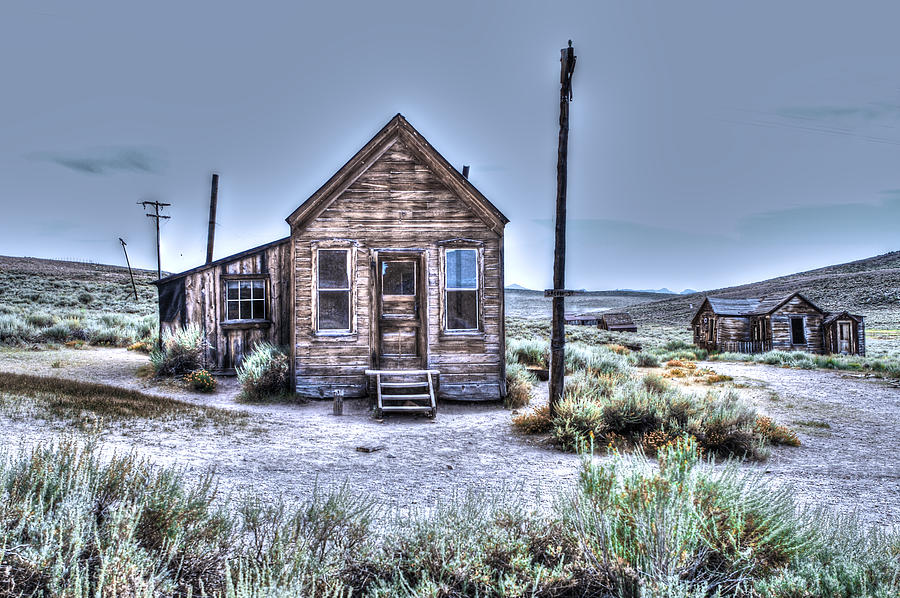 Bodie Photograph - Shacks At Bodie by SC Heffner