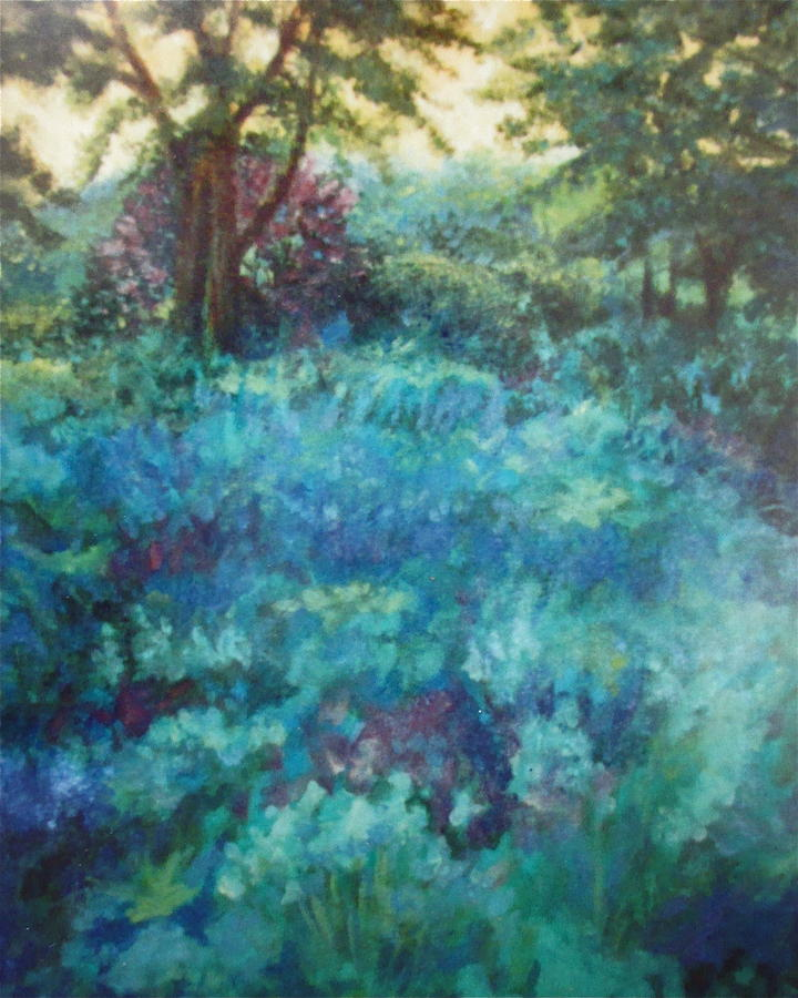 Landscape Painting - Shade Garden by Sherri Anderson