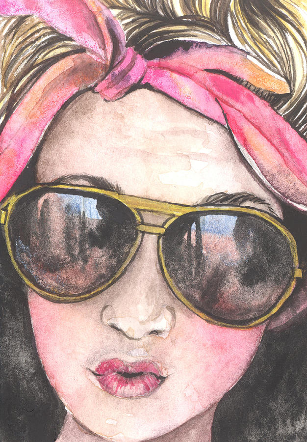 Pink Painting - Shades by Kim Whitton