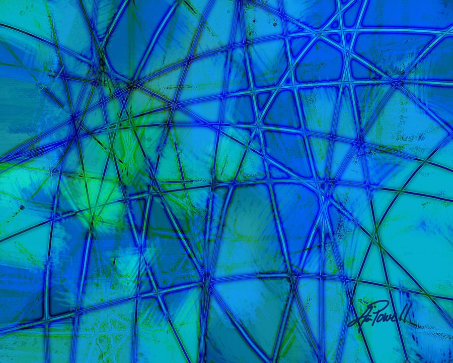 Blue Digital Art - Shades Of Blue   by Ann Powell