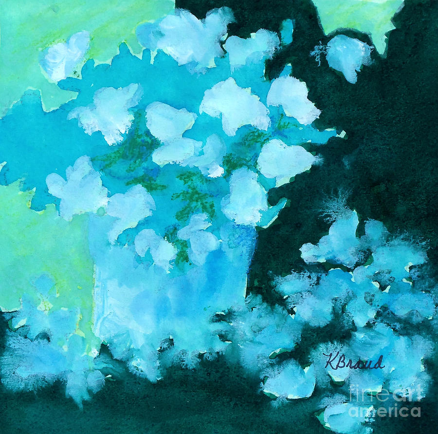 Paintings Painting - Shades Of Green And Light by Kathy Braud