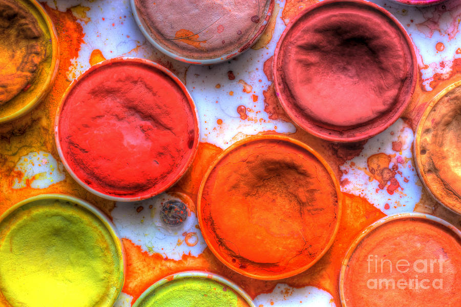 Paint Photograph - Shades Of Orange Watercolor by Heidi Smith