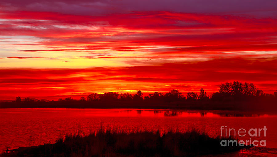 Sunset Photograph - Shades Of Red by Robert Bales