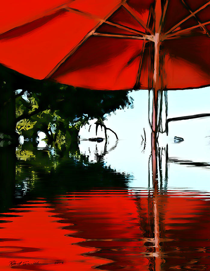 Umbrella Painting - Shades Of Red by Robert Smith
