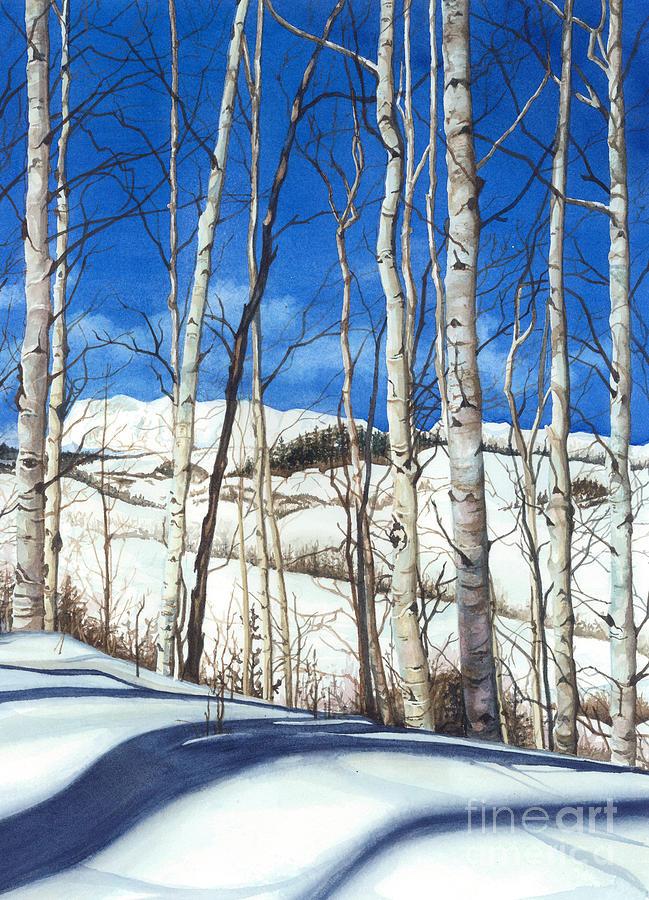 Barbara Jewell Painting - Shadow Dance 2 by Barbara Jewell