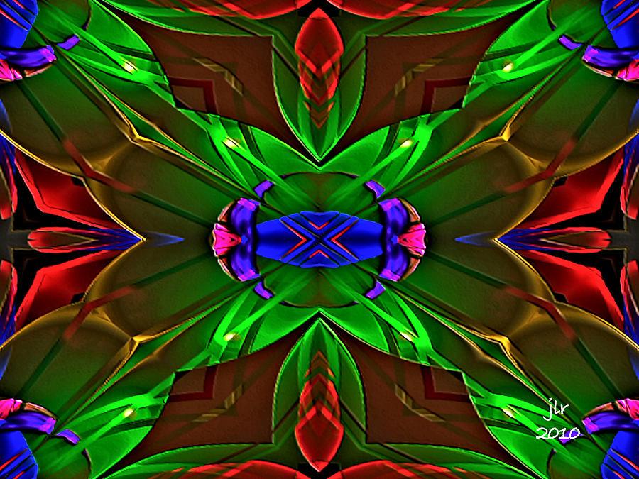 Fractal Digital Art - Shadow Fan by Janet Russell