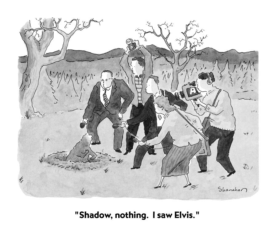 Weather Drawing - Shadow, Nothing.  I Saw Elvis by Danny Shanahan