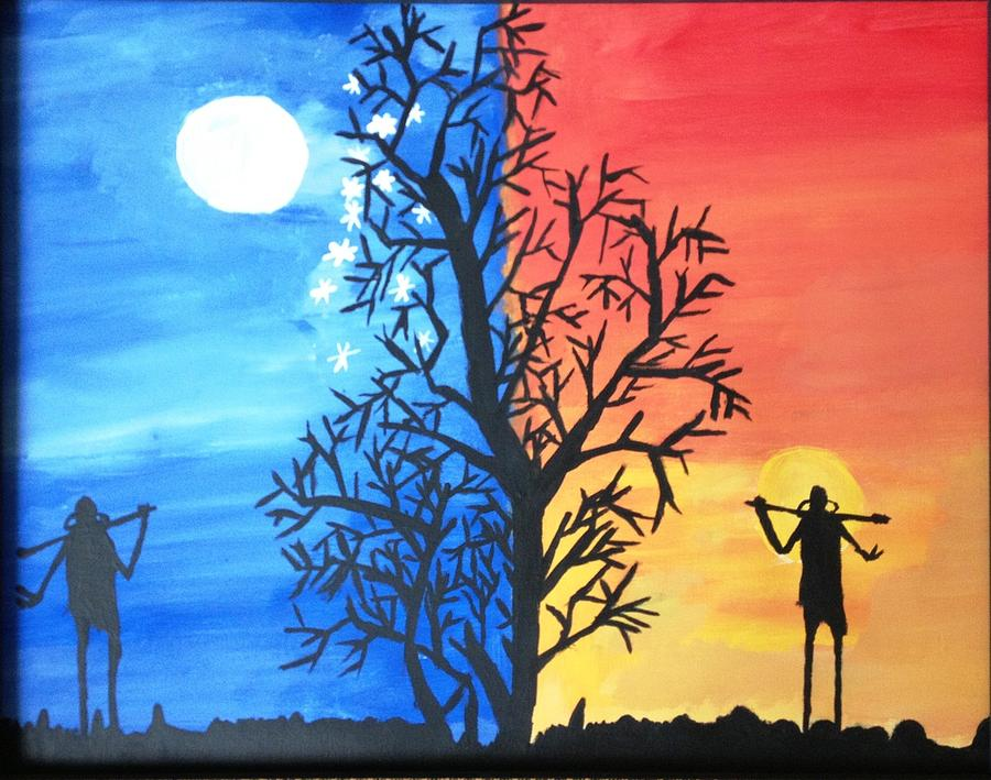 Shadow Of Eve In The Night Painting by Neha  Shah