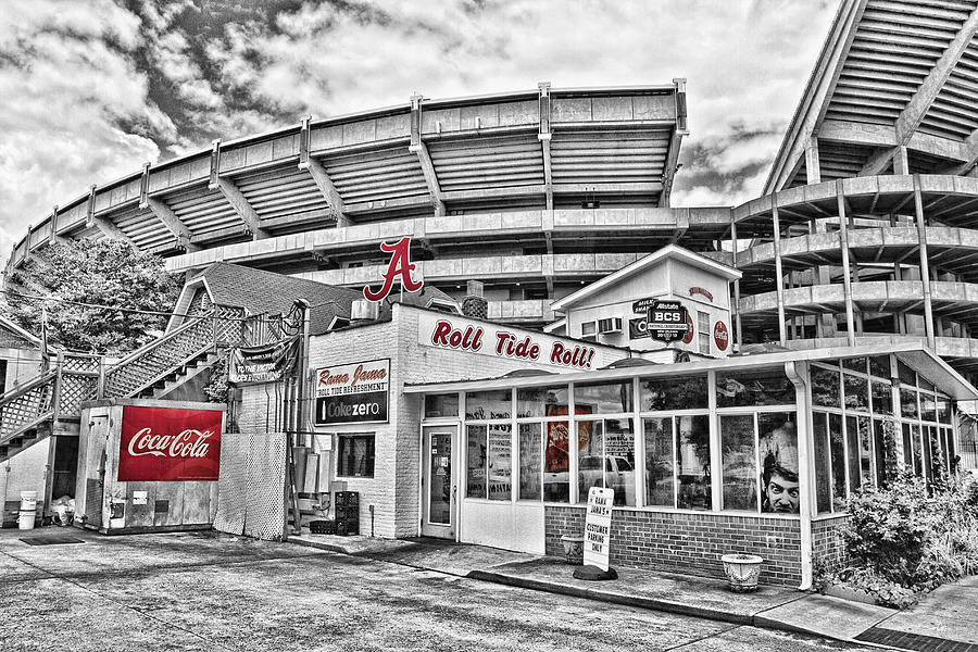 Selective Color Photograph - Shadow Of The Stadium by Scott Pellegrin