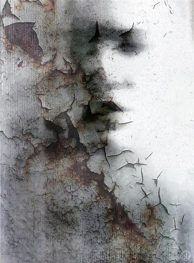 Woman Digital Art - Shadow On A Wall by Gun Legler