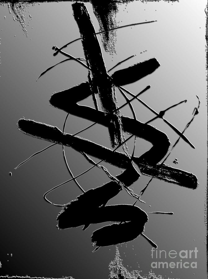 Abstract Painting Painting - Shadow On The Wall I by Christiane Schulze Art And Photography