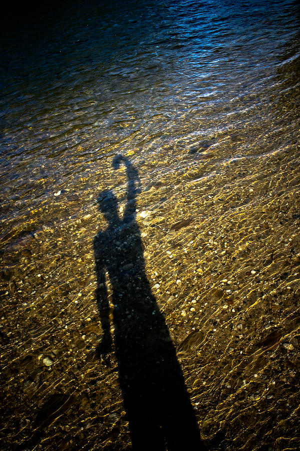 Shadow Photograph - Shadow On The Water by Joel Loftus