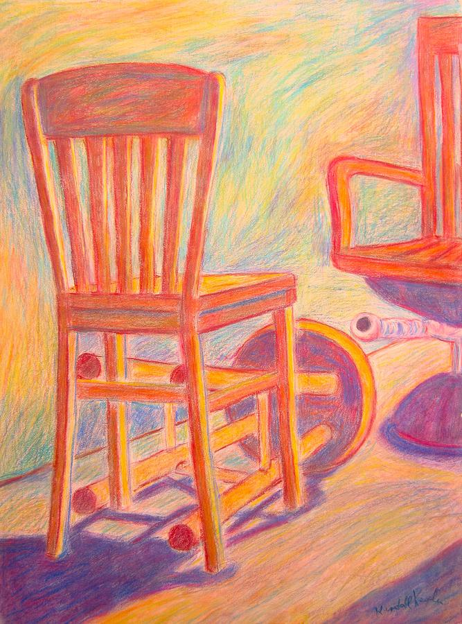 Chair Painting - Shadow Play by Kendall Kessler