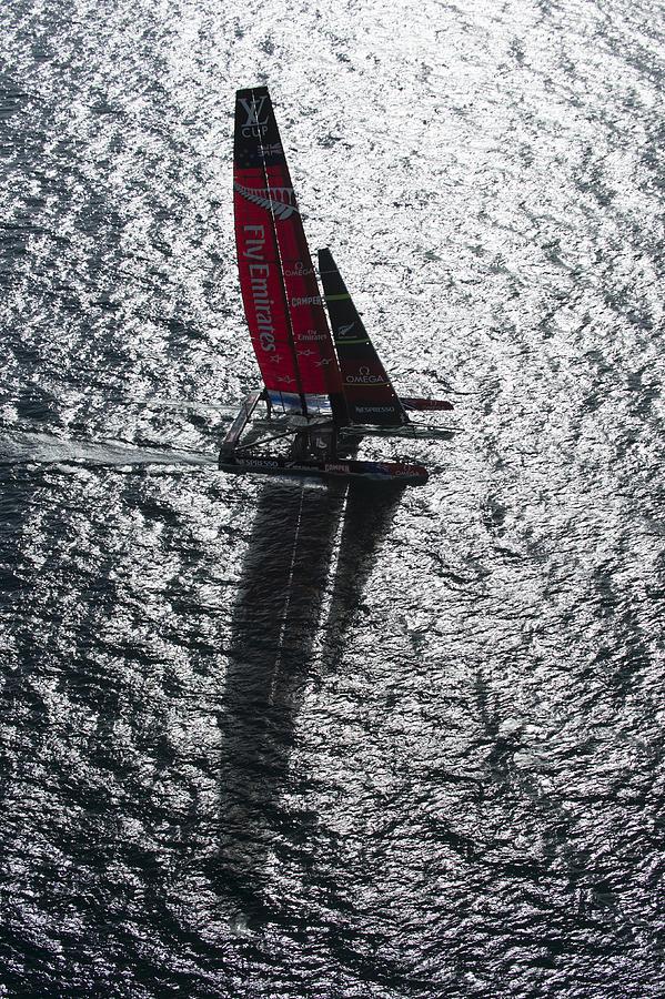 Ac72 Photograph - Shadow Sailing by Chris Cameron