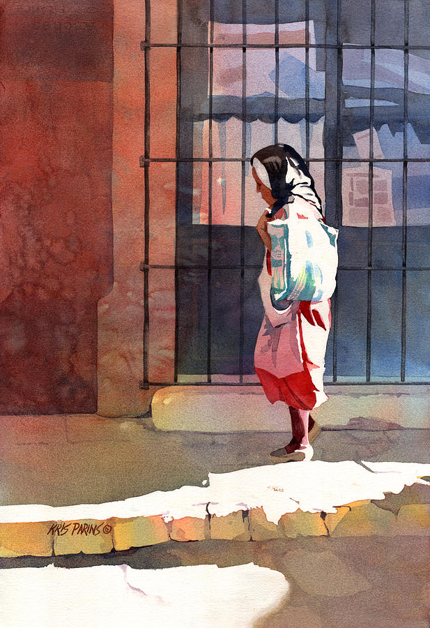 Artist Painting - Shadow Woman by Kris Parins