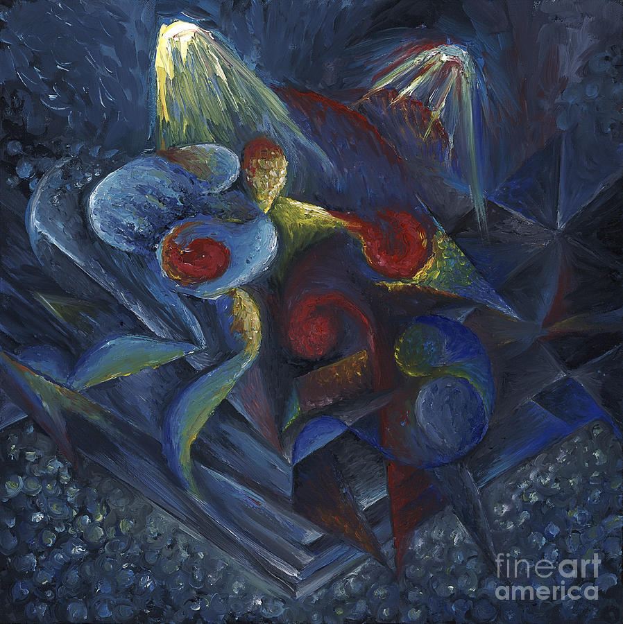 Oil Painting - Shadowboxing by Tiffany Davis-Rustam