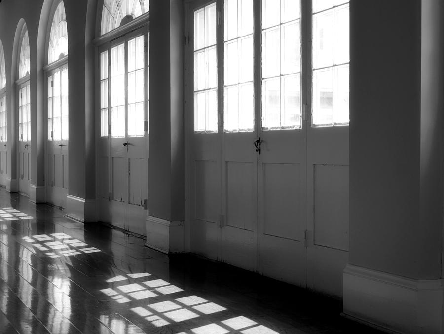 Black White Photograph - Shadows At The Cabildo by James Stough