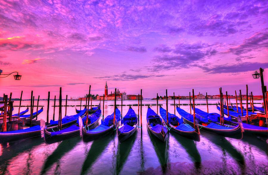 Venice Photograph - Shadows Dance by Midori Chan