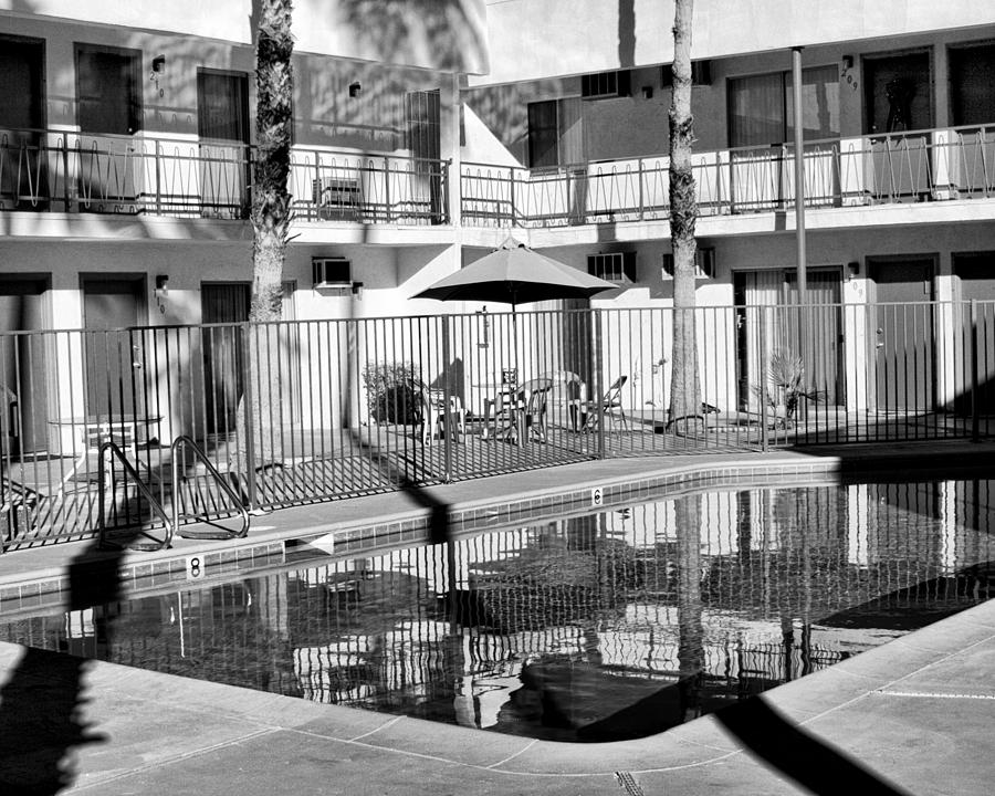 Swimming Pool Photograph - Shadows In Paradise Palm Springs by William Dey