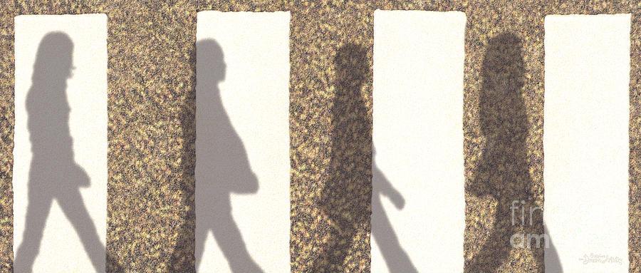 Beatles Digital Art - Shadows Of Abbey Road by Cristophers Dream Artistry