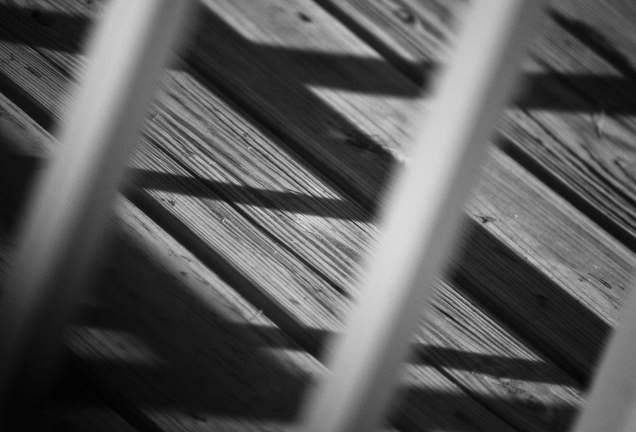 Abstract Photograph - Shadows Of Carpentry by Christi Kraft