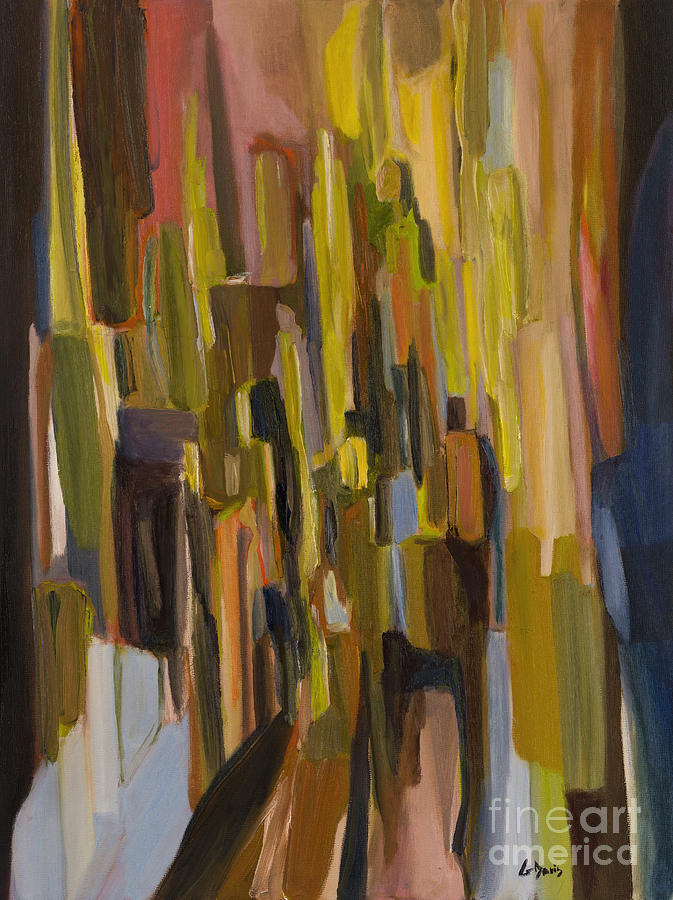 Abstract Painting - Shadows Of People by Greg Davis