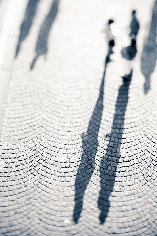 Shadows Of People Photograph by Moreiso