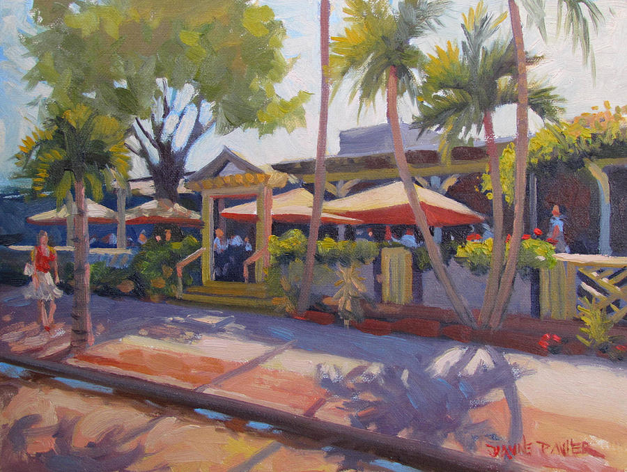 Third Street Painting - Shadows On Tommy Bahamas by Dianne Panarelli Miller