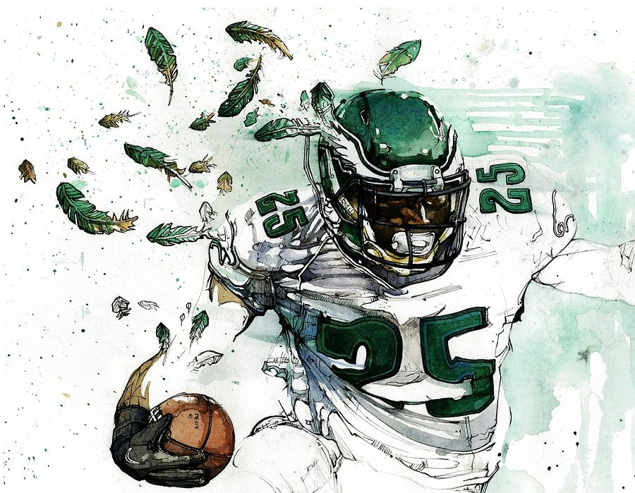 Lesean Painting - Shady Mccoy by Michael  Pattison