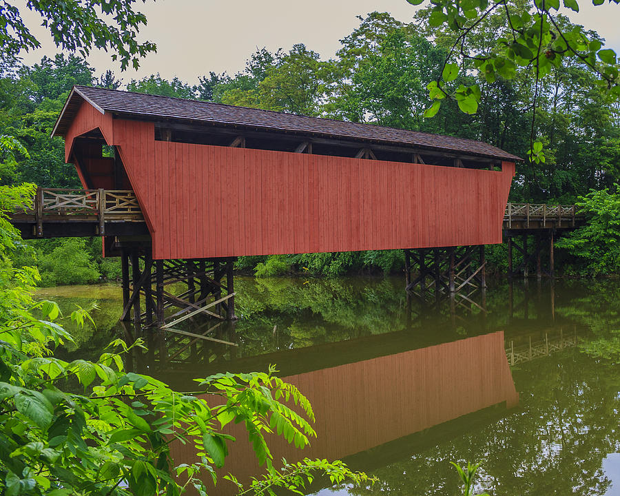 Ohio Photograph - Shaeffer Or Campbell Covered Bridge by Jack R Perry